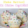 {Cake Batter} Ice Cream Cupcakes